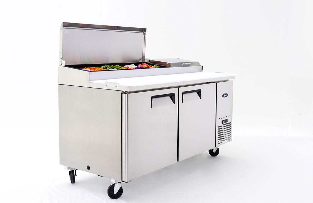 Atosa 67in pizza prep table 5 star restaurant equipment for Table 5 pizza