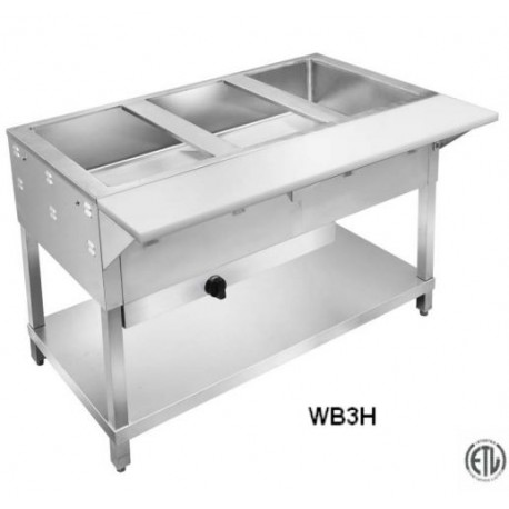 New Compartment Gas Steam Table LP Or Nat Gas Long Free - Restaurant equipment steam table